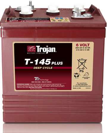 Trojan deep cycle batteries for golf carts, aerial platforms